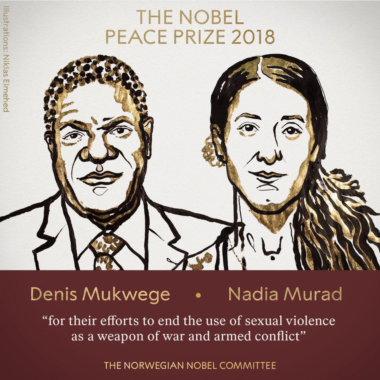 برندگان جایزه صلح نوبل در سال 2018